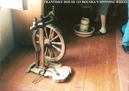009 FRANTISKY HOUSE 35 SPINNING WHEEL