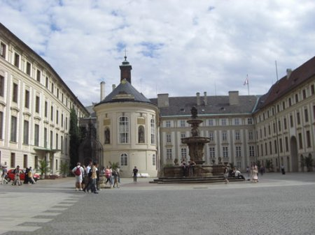 Presidential Palace courtyard Prague