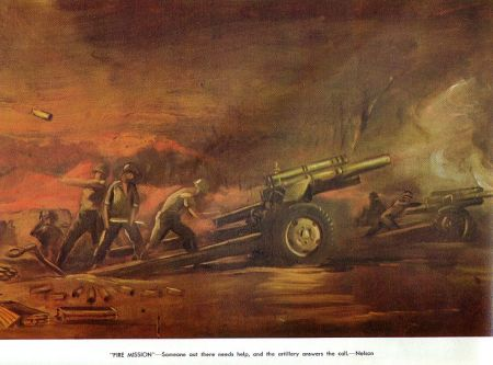 Fire Mission - Howitzer Painting