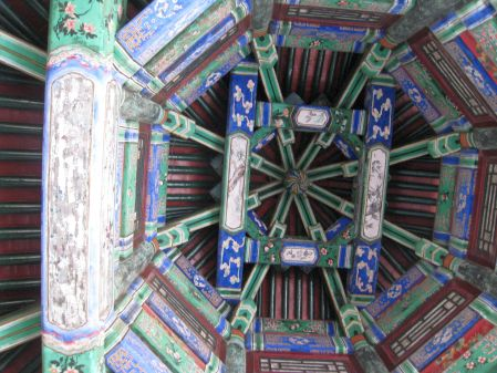 The Long Corridor ceiling.