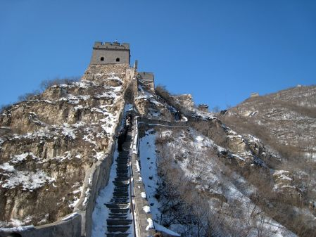 STEEP STEPS TO THE WATCH TOWER OF THE GREAT WALL OF CHINA